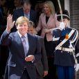 Le roi Willem-Alexander des Pays-Bas inaugurant à La Haye les nouveaux bâtiments du ministère de la Défense, le 15 mai 2013.