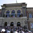 La princesse Victoria de Suède à l'Université d'Uppsala pour célébrer le 50e anniversaire de la chorale mixte Allmänna Sången, le 19 mai 2013