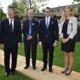 Le prince Daniel de Suède inaugurait le Tennis Park de Stockholm le 20 mai 2013, au Royal Lawn Tennis Club.