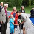 La princesse Victoria de Suède au lancement du livre de prières de la princesse Estelle, le 22 mai 2013 dans le parc Haga.