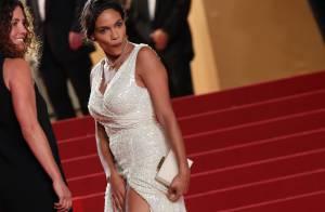 Cannes 2013 : Rosario Dawson robe fendue et décomplexée face à James Franco
