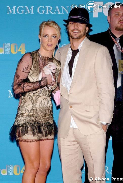 Britney Spears avec Kevin Federline en 2004