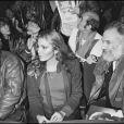 Maxime Le Forestier et Georges Moustaki à Paris le 20 novembre 1980.