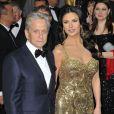 Catherine Zeta Jones et Michael Douglas à la 85e cérémonie des Oscars à Hollywood, le 24 février 2013.