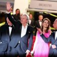 Alain Delon, Aurelie Filippetti et Bertrand Delanoe - Hommage a Alain Delon lors du 66eme festival du film de Cannes. Le 25 mai 2013  Tribute to Alain Delon during the 66th Cannes Film Festival. on may 25th 201325/05/2013 - Cannes