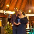 Exclusif - Christine Kelly lors du Grand prix de pétanque des personnalités en Martinique le 11 mai 2013.