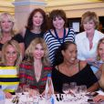 Exclusif - Charlotte de Turckheim, Liane Foly, Alice Dona, Cecile de Menibus, Christine Kelly et Sylvie Tellier lors du Grand prix de pétanque des personnalités en Martinique le 11 mai 2013.