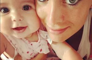 Jade Foret : Superbe dans sa robe de mariée ou sa fille Liva dans les bras