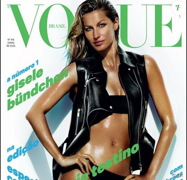 Gisele Bündchen photographiée par Mario Testino pour le numéro de juin 2013 du magazine Vogue Brasil.