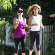 Exclusif - Reese Witherspoon pendant son jogging avec sa coach personnelle à Brentwood, le 29 mai 2013.