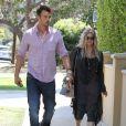 Exclusif - Fergie, enceinte, et son mari Josh Duhamel à Los Angeles, le 30 mai 2013.