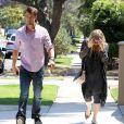 Exclusif - Fergie, enceinte, et son mari Josh Duhamel dans les rues de Los Angeles, le 30 mai 2013.