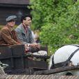 Matt Damon sur le tournage de Monuments Men dans le comté du Buckinghamshire, le 30 mai 2013.
