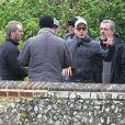 George Clooney donne ses consignes sur le tournage de Monuments Men dans le comté du Buckinghamshire, le 30 mai 2013.