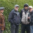 George Clooney et Matt Damon sur le le tournage de Monuments Men dans le comté du Buckinghamshire, le 30 mai 2013.