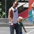 Gavin Rossdale va chercher son fils Zuma à l'école, à Los Angeles, le 30 mai 2013.