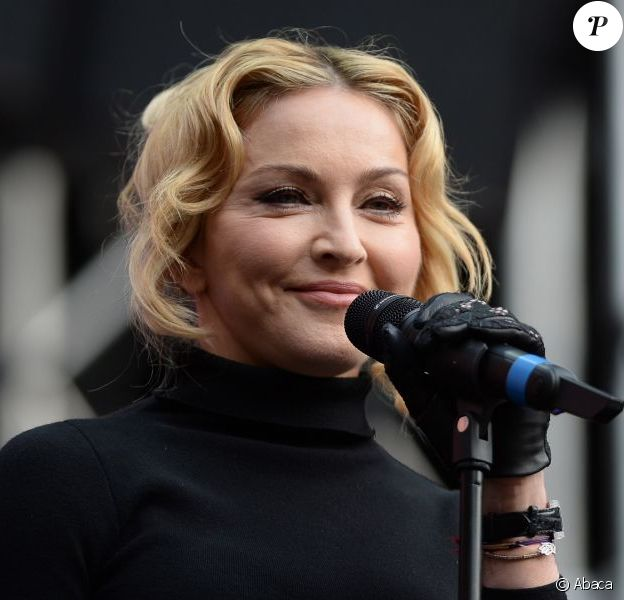 Madonna lors du concert Sound of Change à Londres, le 1er juin 2013.