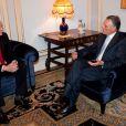 Le prince Albert de Monaco rencontrait le président du Portugal Cavaco Silva le 3 juin 2013 en marge de sa visite pour une conférence environnementale sur la protection des océans.
