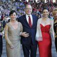 Le prince Albert II de Monaco lors de l'inauguration de la conférence annuelle de la JCI le 29 mai 2013 au Stade Louis II.