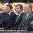 Le prince Albert de Monaco à l'inauguration du quartier Saint Antoine à Cap d'Ail le 31 mai 2013