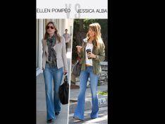 Ellen Pompeo/Jessica Alba : Qui porte le mieux le jean flare ?