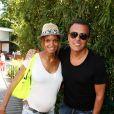 Jean-Roch au côté de sa compagne Anaïs, enceinte, lors des Internationaux de tennis de Roland Garros, à Paris le 7 juin 2013.