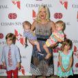 Tori Spelling et ses enfants Liam, Stella, Hattie et Finn au Gala annuel Mother's Day à Los Angeles, le 10 mai 2013.