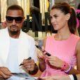Kevin-Prince Boateng et sa compagne Melissa Satta lors d'un événement caritatif en faveur de l'Afrique à Milan, le 15 juin 2013.