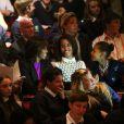 Michelle Obama et ses deux filles Malia et Sasha au théâtre Gaiety à Dublin pour une représentation spéciale du spectacle Riverdance. Le 17 juin 2013.