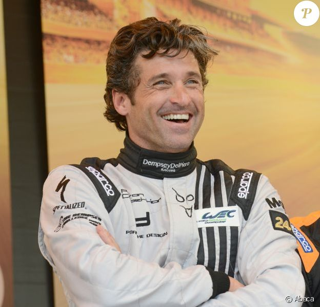 Patrick Dempsey, séducteur lors de laprésentation des pilotes et des équipages qui particperont aux 24 Heures du Mans les 22 et 23 juin prochains dans les rues du Mans le 16 juin 2013