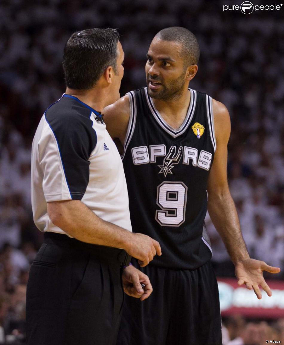 Tony Parker lors du match 7 des finales NBA à Miami, le 20 juin 2013.