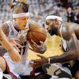 LeBron James et Chris Andersenlors du match 7 des finales NBA à Miami, le 20 juin 2013.