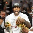 LeBron James et Dwyane Wadelors du match 7 des finales NBA à Miami, le 20 juin 2013.