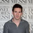 """Lionel Messi à la presentation du """"livre de Lionel Messi"""" par Dolce & Gabbana, le 22 juin 2013 à Milan."""