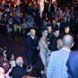 Un homme nu interrompt le defile de mode de DOLCE& GABBANA lors de la fashion week du pret-a-porte Homme 2014 a Milan, le 22 juin 2013  A naked man interrupts the DOLCE& GABBANA catwalk, Milan Fashion Week: Men's S/S 2014, 22nd june 2013, Milan (Italy)22/06/2013 - Milan