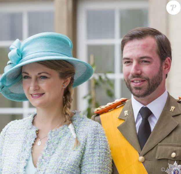 Le grand-duc héritier Guillaume et Stéphanie de Luxembourg célèbrent la fête nationale le 23 juin 2013.