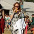 Lily Cole à Glastonbury le 29 juin 2013.