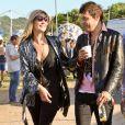 Kate Moss et Jamie Hince à Glastonbury le 29 juin 2013.