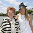 Régine, Eva Dichand lors de la 3ème édition du Brunch Blanc-Une croisiere sur la Seine à Paris le 30 juin 2013