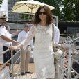 Cristiana Reali lors de la 3ème édition du Brunch Blanc-Une croisiere sur la Seine à Paris le 30 juin 2013