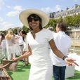 Audrey Pulvar lors de la 3ème édition du Brunch Blanc-Une croisiere sur la Seine à Paris le 30 juin 2013