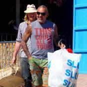 Christian Audigier : Radieux avec sa belle Nathalie sous le soleil d'Ibiza