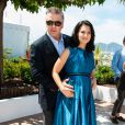 Alec Baldwin et Hilaria Baldwin lors du Festival de Cannes 2013