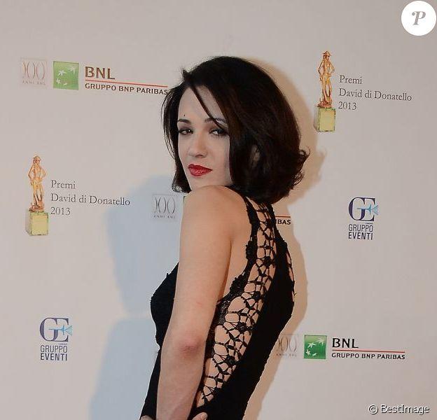 """Asia Argento lors de la cérémonie des """"David di Donatello Awards"""" à Rome le 14 juin 2013"""