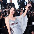 Asia Argento lors de la montée des marches de la clôture du Festival de Cannes le 26 mai 2013