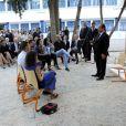 François Hollande lors d'une visite officielle à Tunis, le 4 juillet 2013 au cours d'une rencontre avec des étudiants au lycée français Gustave-Flaubert