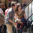 Audrey Tautou et Romain Duris sur le tournage de Casse-tête chinois à New York le 21 septembre 2012