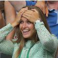 Kim Sears lors de la victoire d'Andy Murray en finale de Wimbledon face à Novak Djokovic (6-4, 7-5, 6-4), au All England Lawn Tennis and Croquet Club de Londres le 7 juillet 2013