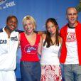 Sam Jones III, Allison Mack, Kristin Kreuk et Michael Rosenbaum à la conférence de presse Smallville lors des Teen Choice Awards, à Los Angeles, le 19 février 2003.
