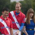 Le prince William et le prince Harry au Jerudong Trophy, un match de polo caritatif disputé dans au club de Cirencester dans le Gloucestershire, le 5 août 2012